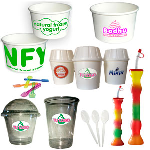 Consumibles para Yogurt Helado, Batidos, Smoothies, Granizados