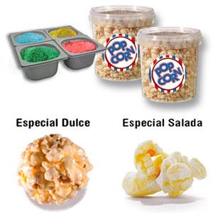 Palomitas de Maiz, Popcorn, Maíz, Mushroom/Champiñon, Azucares, Sal aromatizadam Aceite, envases.
